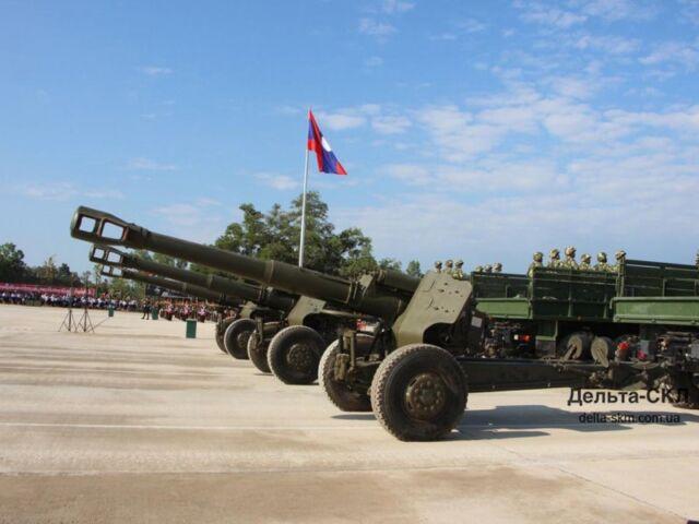 КрАЗы – участники военного парада в Лаосе